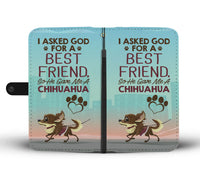 Best Friend Chihuahua Wallet Case