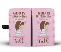 God Is Within Her Wallet Case