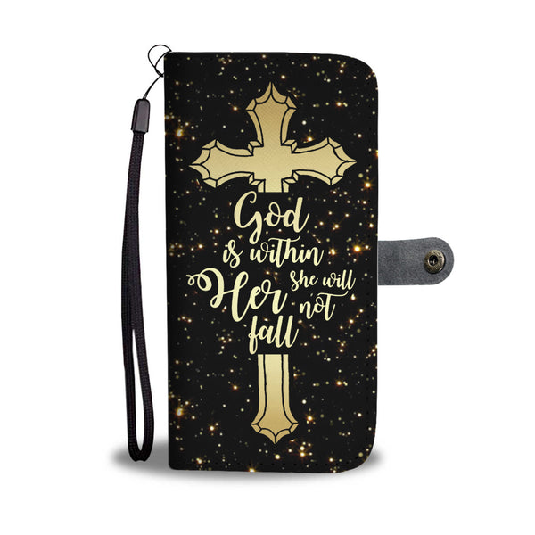 She Will Not Fall Wallet Case