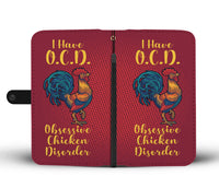 OCD Chicken Wallet Case