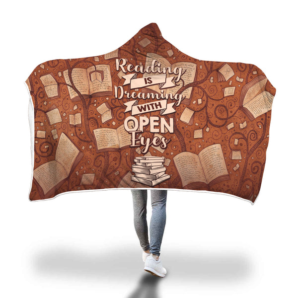 Dreaming With Open Eyes Hooded Blanket