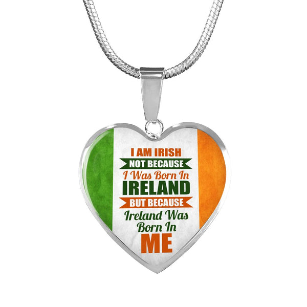 I Am Irish Heart Charm Necklace