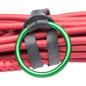 "LastyBands - Large: 10"" Rugged Strap with an Anodized Aluminum Ring and Oil-Resistant Elastic Band"