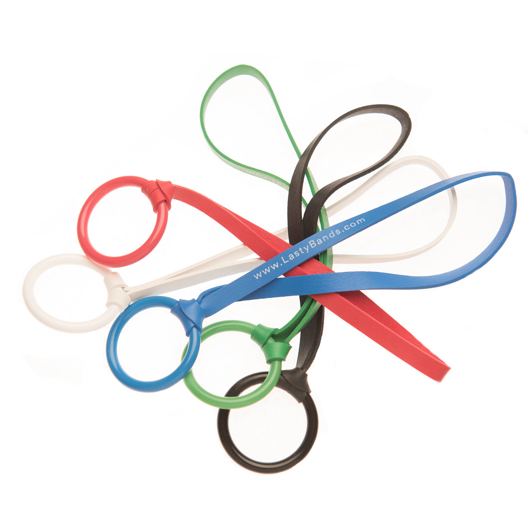 Small: 6 Inches Long, Durable Plastic Ring and Elastic Strap