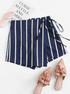 Striped Knot Side Shorts