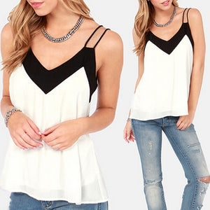 V Neck Loose Sleeveless Tank