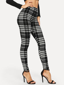 Plaid Skinny Leggings