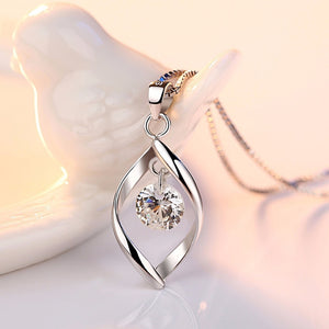 Diamond Tear Drop Necklace