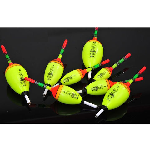 5Pcs/Lot EVA Luminous Fishing Float Assorted Sizes Outdoor Fishing Lure Floats Bobbers Slip Drift Sea Rockg Stream Lake Fishing