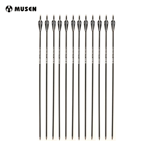 6/12/24 pcs Carbon Arrow Length 28/30/32 Inches Diameter 7.8mm Spine 500 for Recurve Bow Archery Hunting Shooting