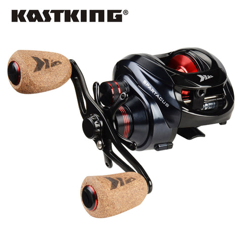 KastKing Spartacus Plus 8KG Max Drag Power Baitcasting Reel Soft Handle Crap Fishing Wheel Lake/River Fishing Reel