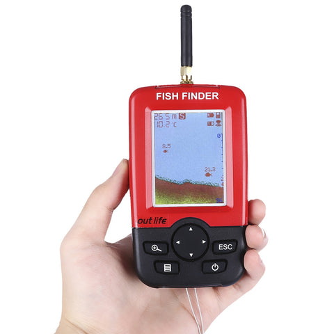 Smart Portable Fish Finder with Wireless Sonar Sensor
