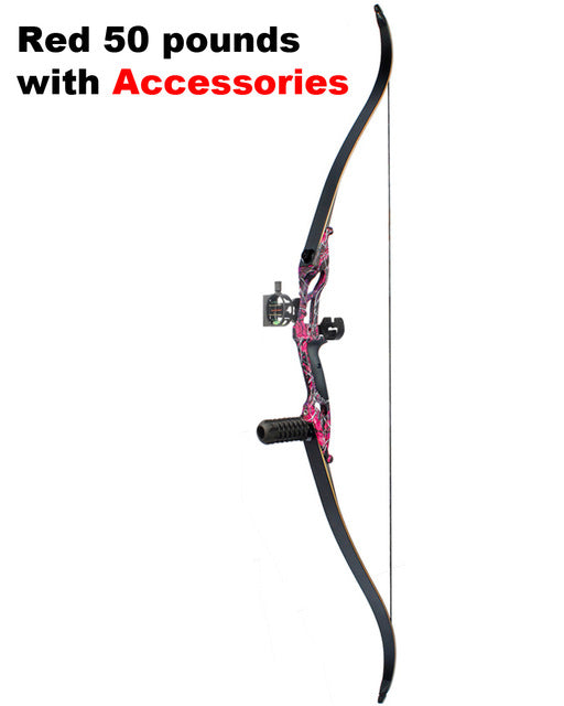 3 Color 30-50lbs Recurve Bow