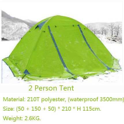 Hunting 2 Persons 3 Double Layer Windproof Waterproof Winter Professional Tent