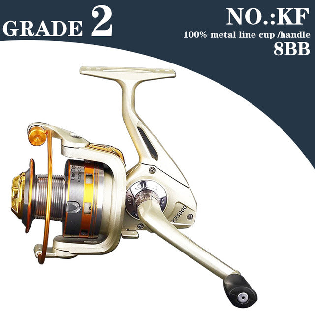 HOT Selling High Quality Cheapest Spinning Reel Fishing Reel 1000-9000 Series Pre-Loading Spinning Wheel  Ball Bearing Reels 04