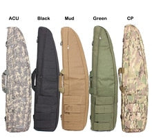 90cm Tactical Hunting Rifle Shot Gun Bag Paintball Combat Outdoor Shoulder Rifle Gun Case with 4 Magzne Pouches