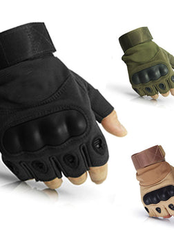 Military Tactical Hard Knuckle Half Finger Gloves