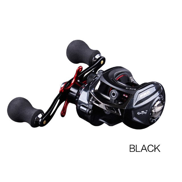 JITAI 14+1BB Baitcasting Fishing Reel 6.4:1 Gear Ratio 8Kg Braking Power High Quality