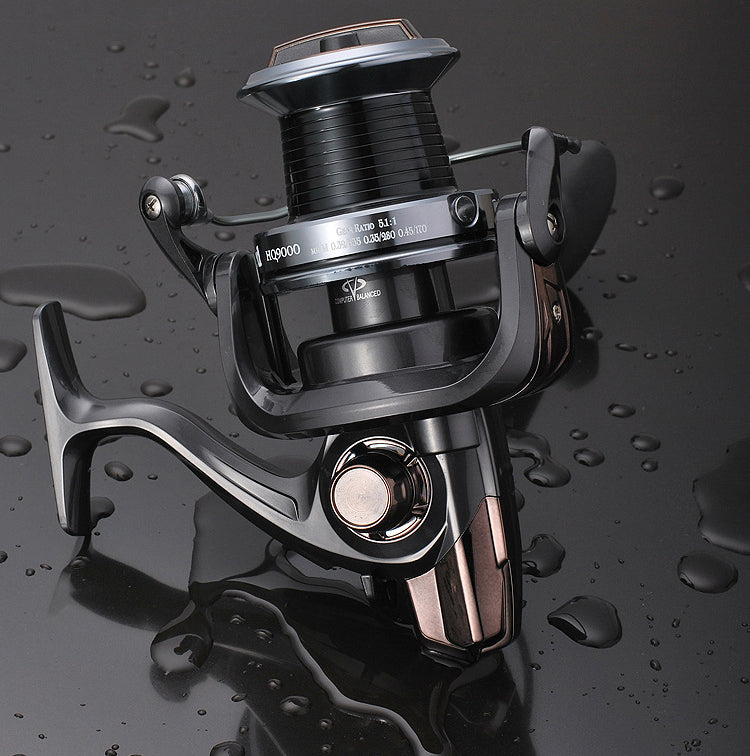 High-end Heavy type 13+1BB Spinning Fishing Reel 3000-10000 Full Metal Distant Wheel For Big Sport Fishing Free Shipping 021#