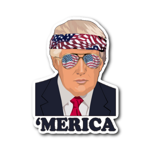 Trump's Merica Sticker