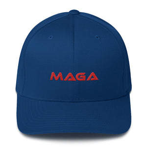Red MAGA Structured Twill Cap