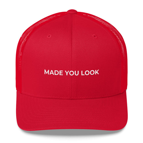 MADE YOU LOOK Red Trucker Cap