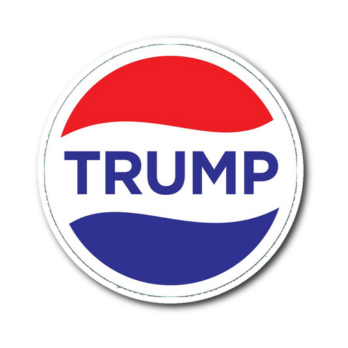 Trump Pepsi Sticker