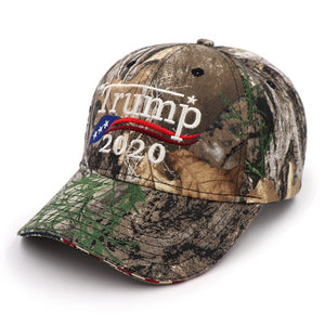 Donald Trump 2020 Camouflage USA Flag Cap