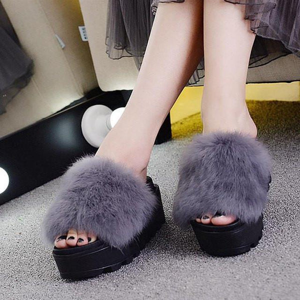 Fuzzy Walking Sandals