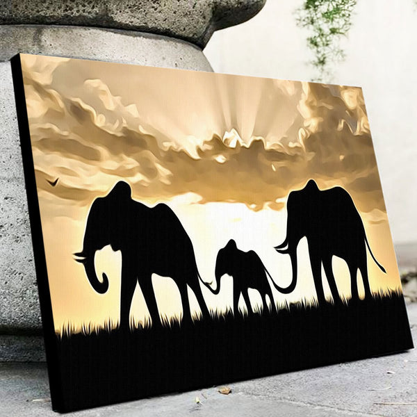 Elephant Family Canvas