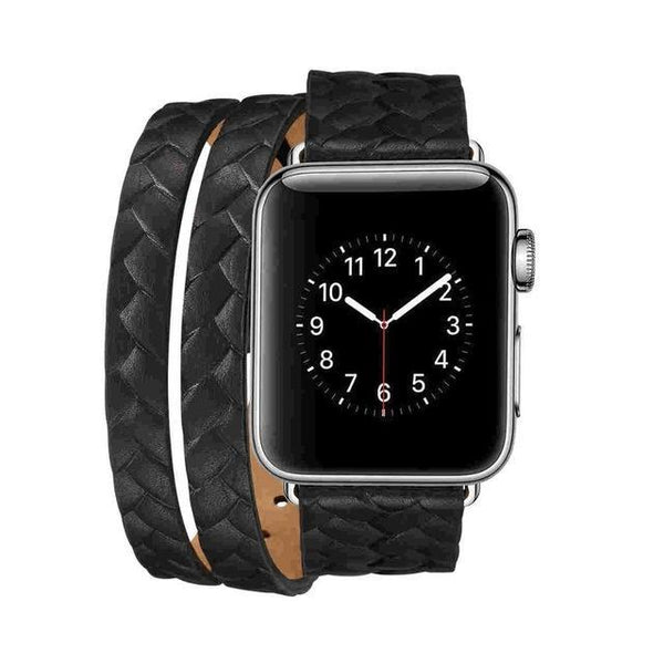 ThorMax Waterproof Leather Strap Bracelet Replacement Watchband for Apple Watch Series 1 / Series 2/ Series3 38mm/42mm