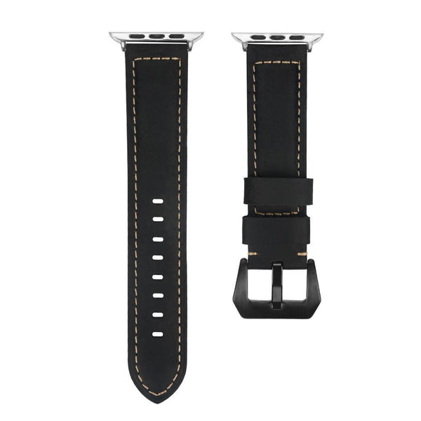 ThorMax Crazy horse skin 100% Genuine Leather for Apple Watch Band Strap for iwatch Series 3 2 1 42MM 38MM