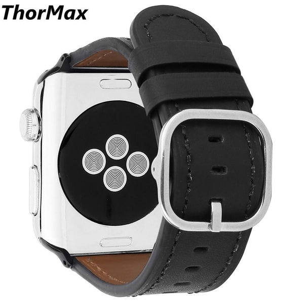 ThorMax for apple watch Genuine Leather strap 5 colors Classic buckle Bracelet Replacement Men/women watchband 38mm/42mm