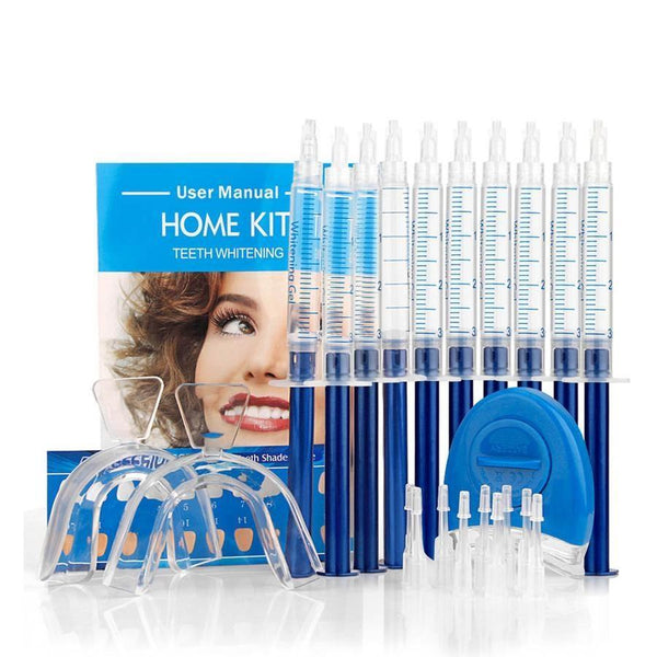 Teeth Whitening Oral Gel Polish Pen Kits with LED Light