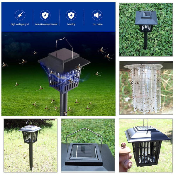 Solar Powered Mosquito Zapper Lamp