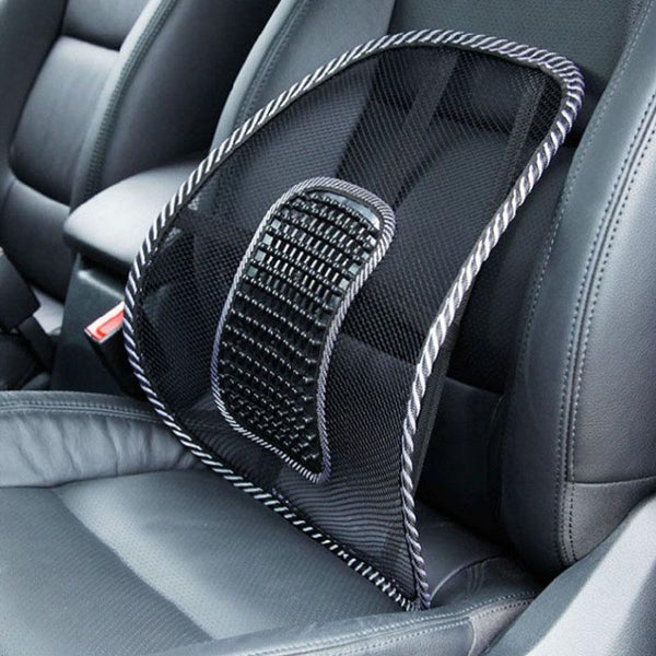 Black Mesh Car Seat Back Support
