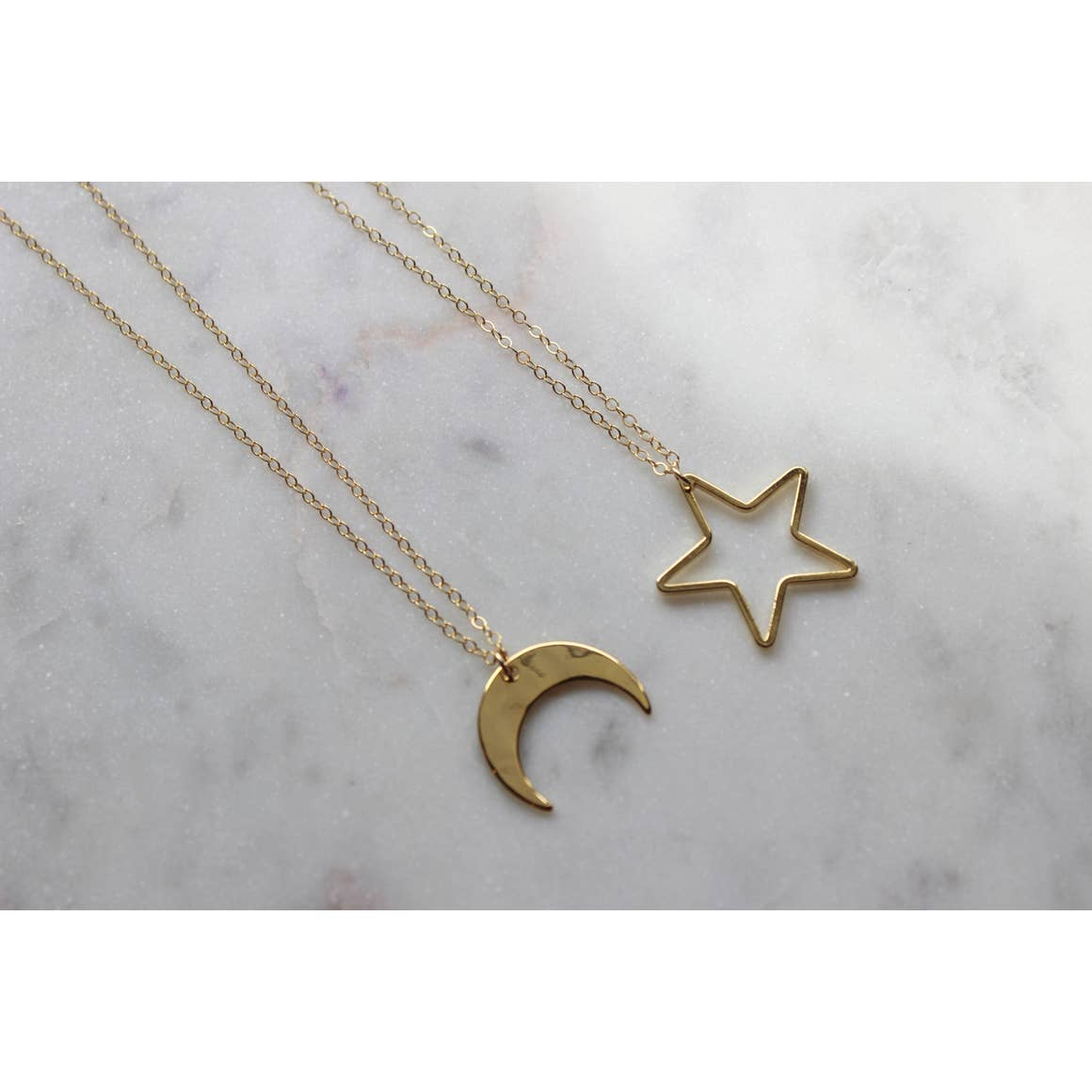Moon Necklace, Star Necklace