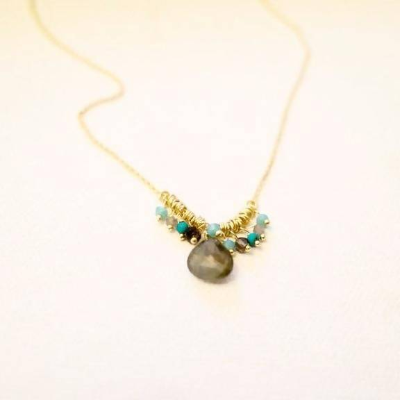 Smoky Quartz Drop Necklace