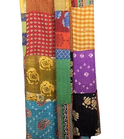 Patchwork Kantha Quilt - King