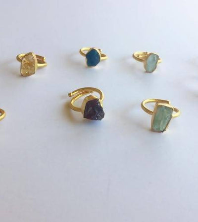 Single Raw Stone Ring