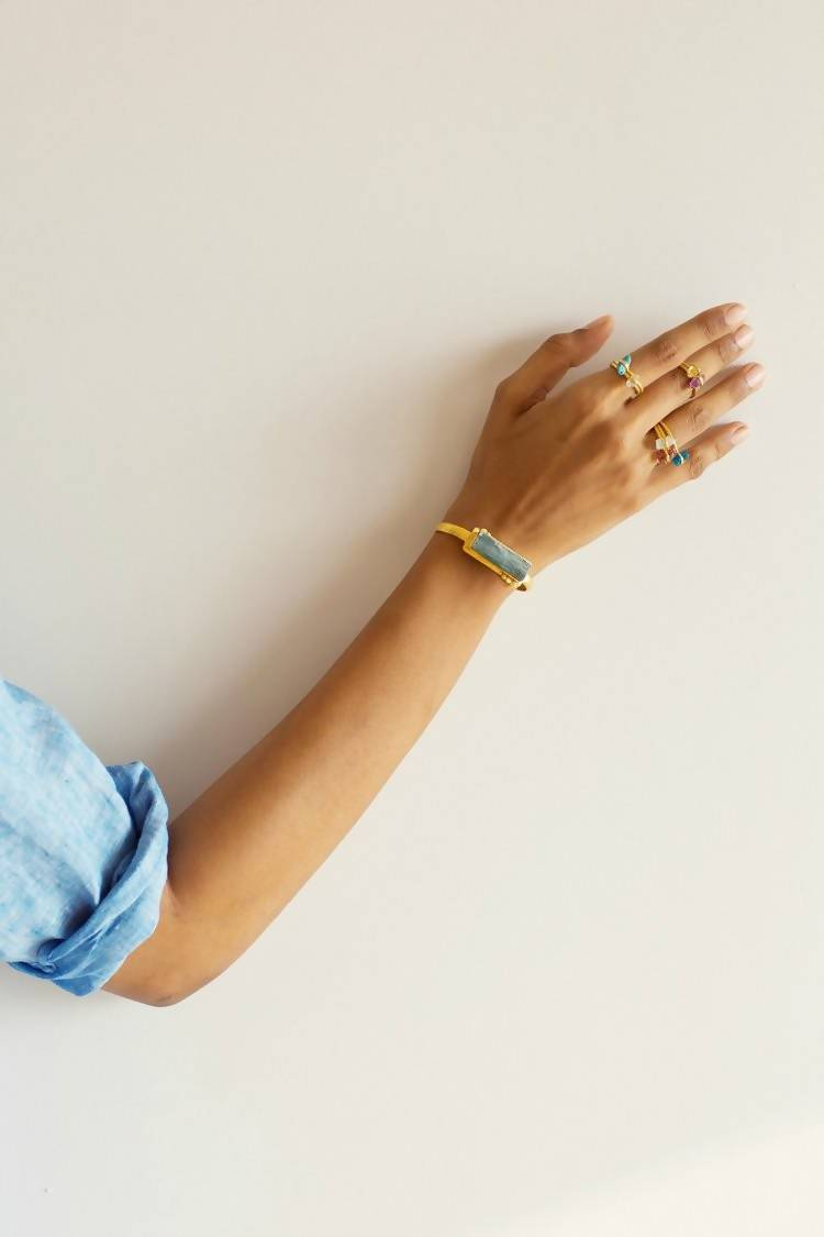 Konah Gold & Raw Stone Cuff