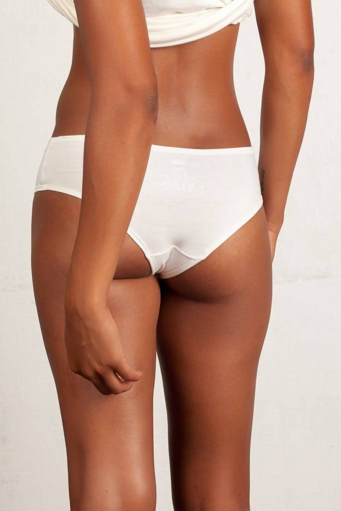 The Kyle- Classic Boyshort in Ivory