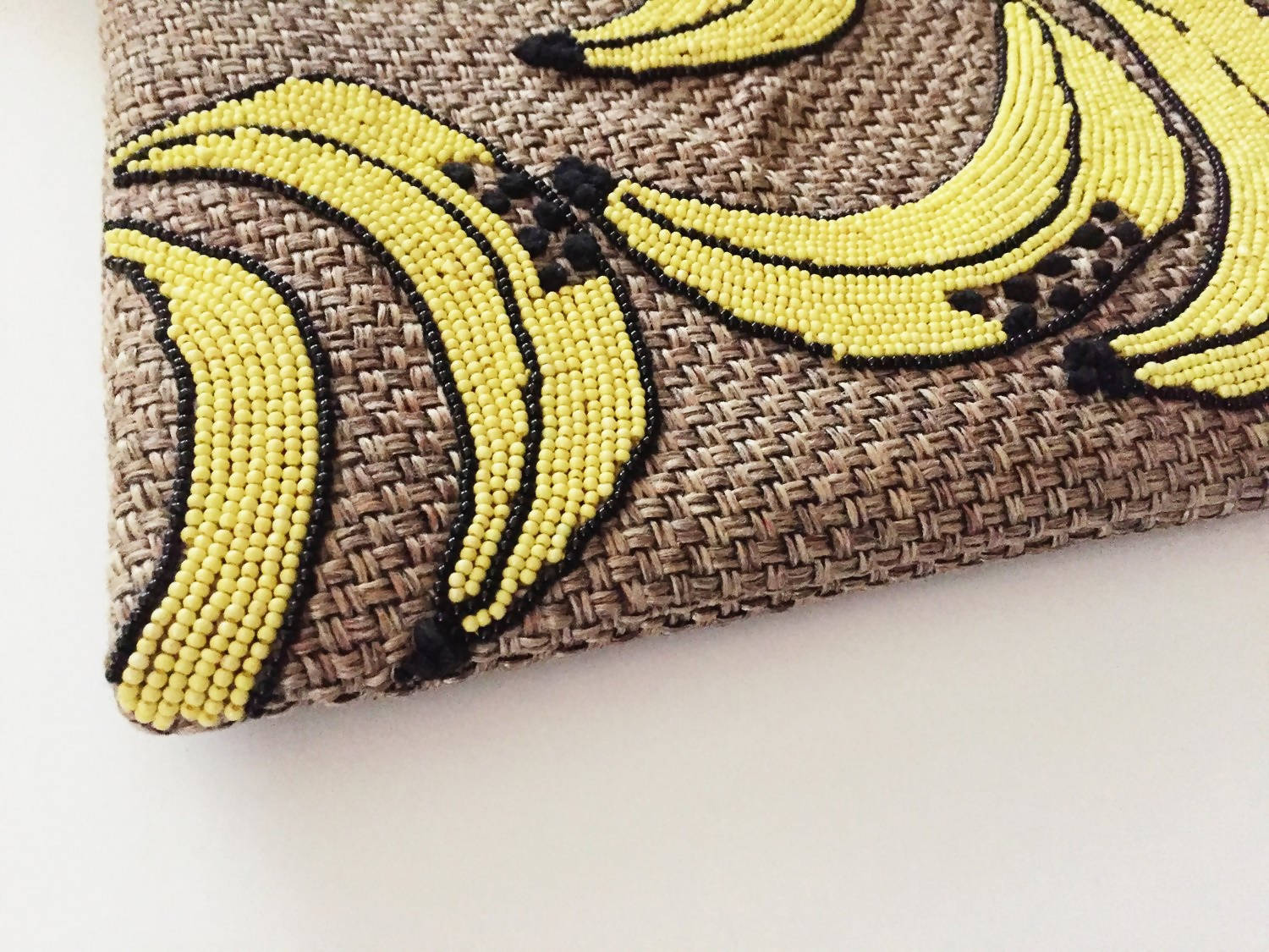 Bananarama Beaded Clutch
