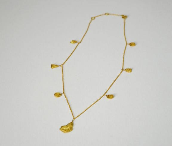 Studio 54 Gold Nugget necklace