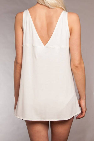 The Sybil- Bamboo Sleep Tank in Ivory