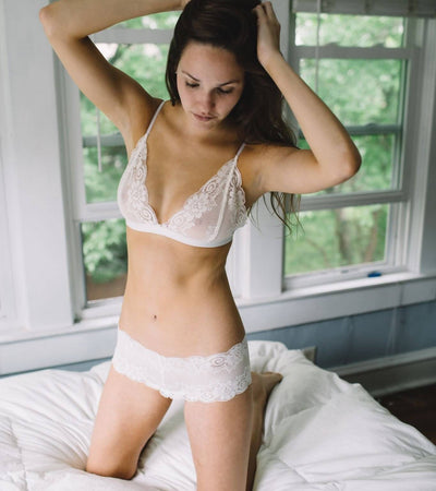 The Molly- Luxe Lace Bralette in Ivory