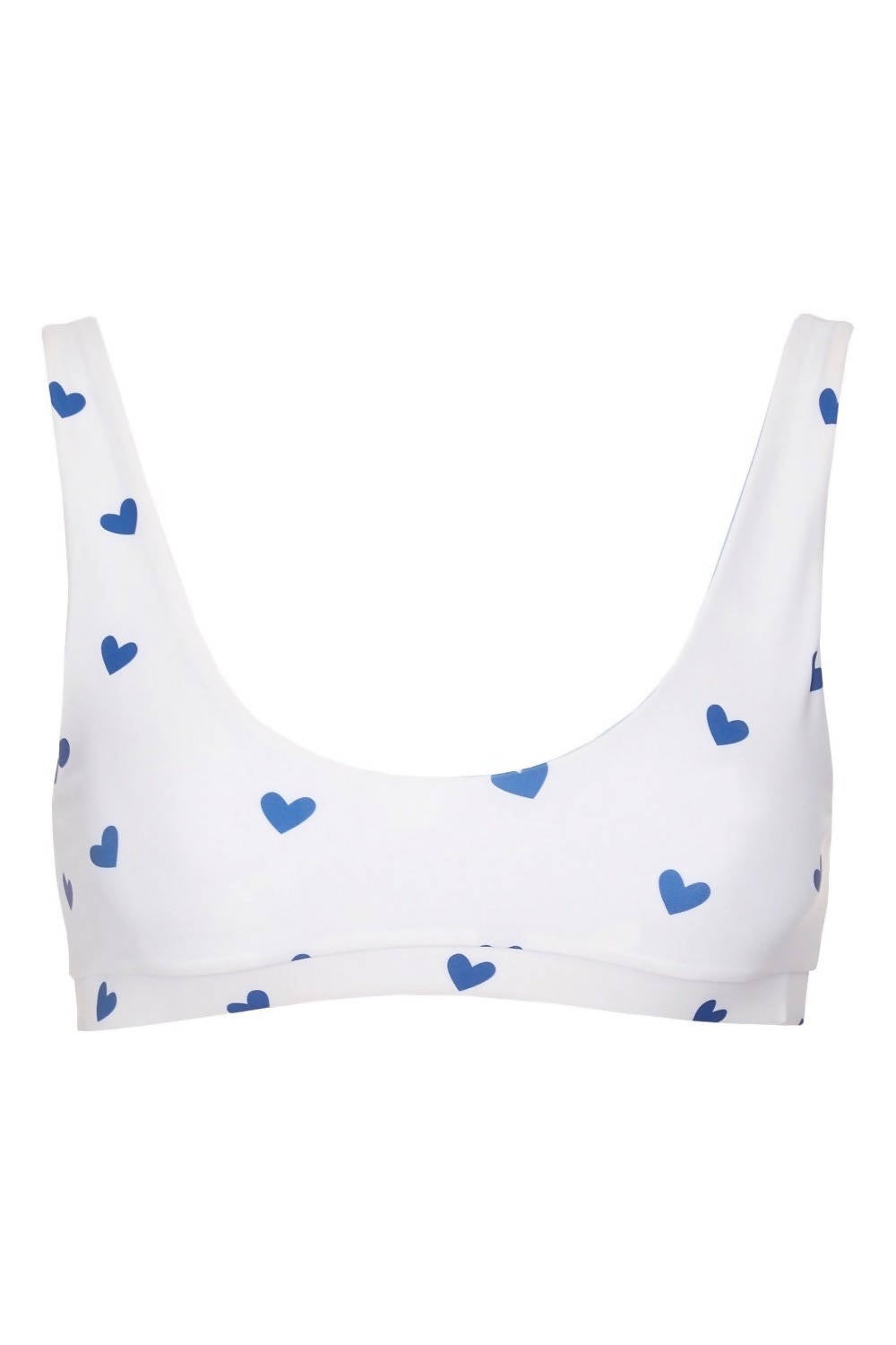 SASHA TOP - NAVY / WHITE HEARTS