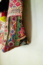 Maya vintage tribal fabric tote