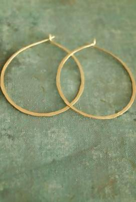 Hammered Circle Hoop Earrings