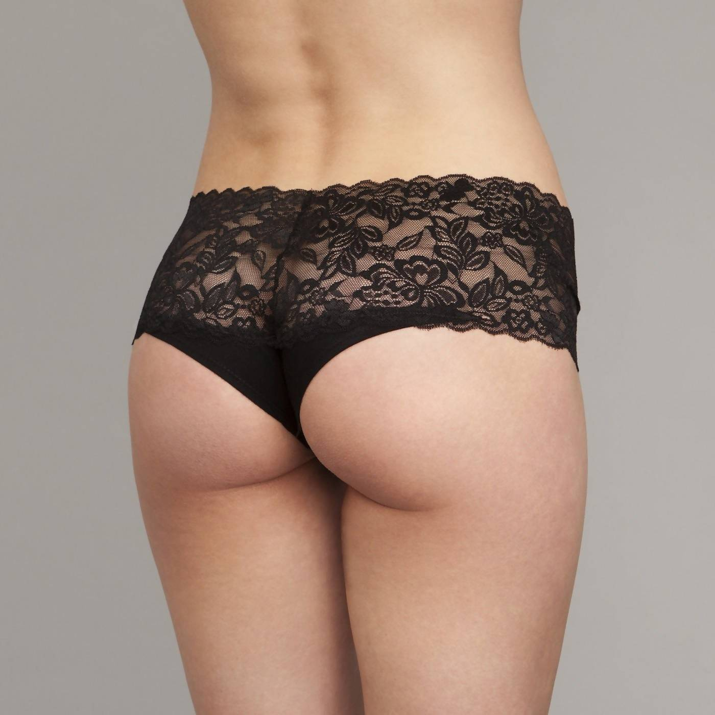 The Kaydee- Wide Lace Brazilian in Black